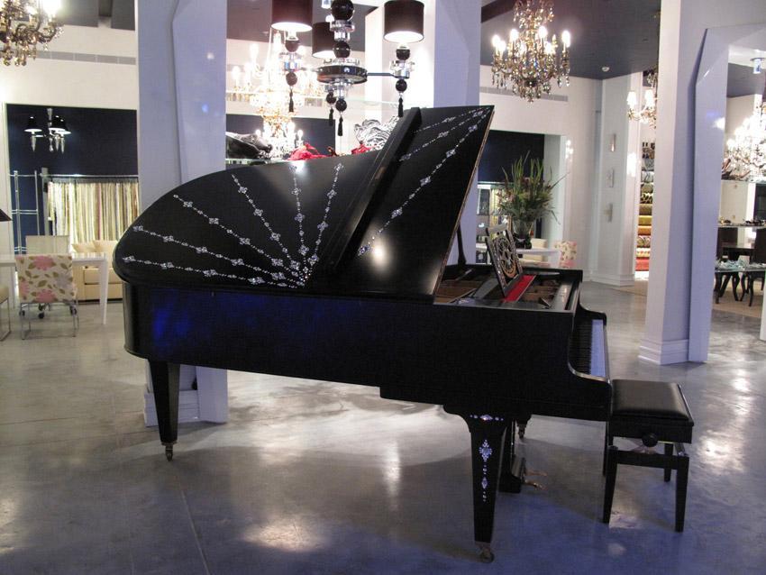 שונות פסנתר יד 2 משובץ אבני סברובסקי למכירה | בני מילר פסנתרי איכות TF-97